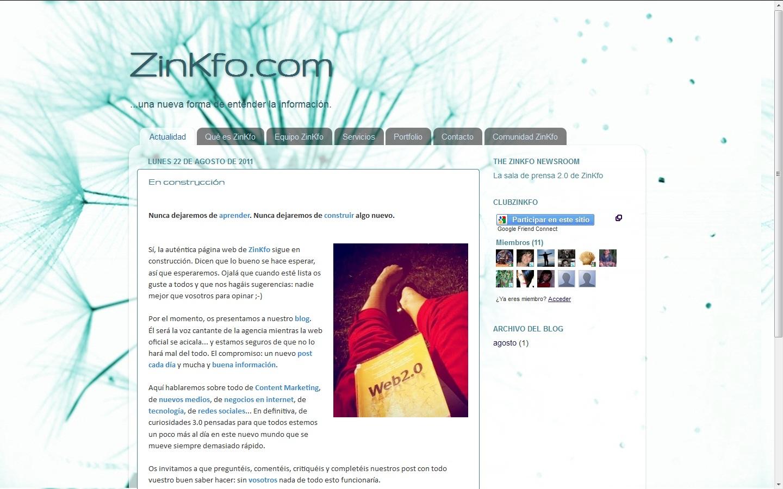 ZinKfo, información online y marketing de contenidos 3.0