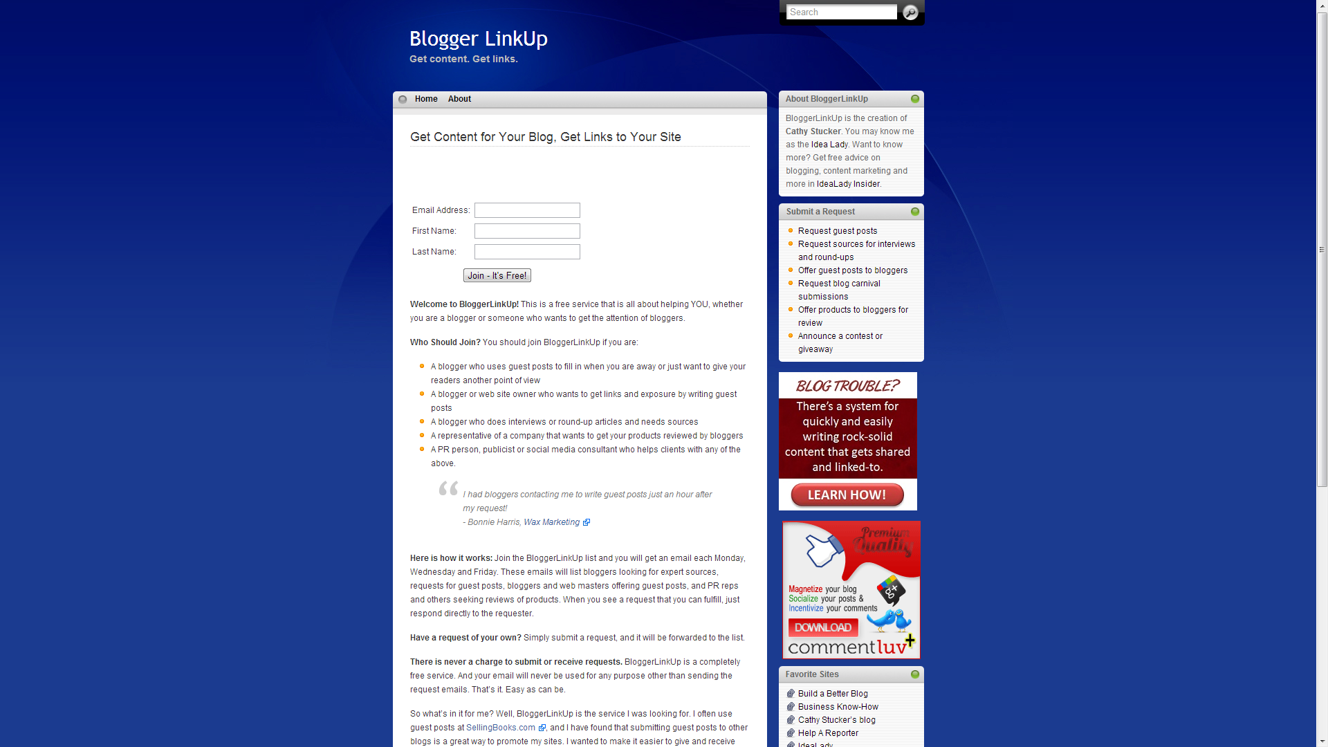 Para hacer guest blogging